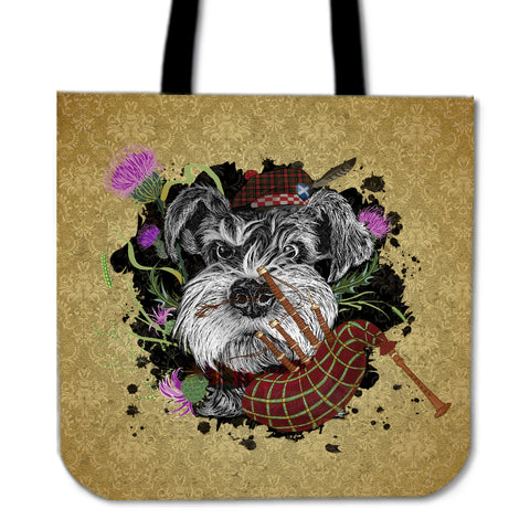 Scotland Tote Bag - Scottish Terrier And Thistle Vintage | Love Scotland