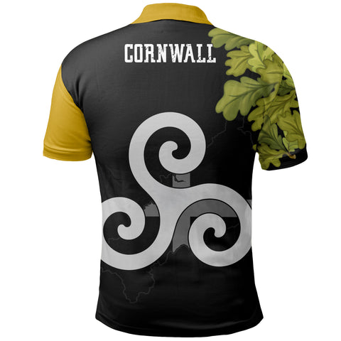 Image of Cornish Oak Leaf Map Special Polo Shirt | Women & Men | Clothing