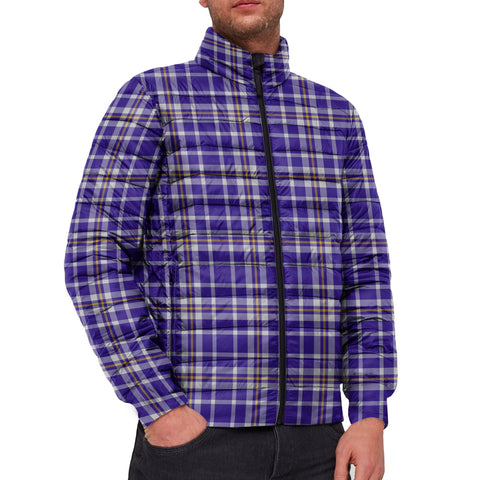 Tartan Padded Jacket -  Ochterlony Scottish Stand Collar Padded Jacket A7