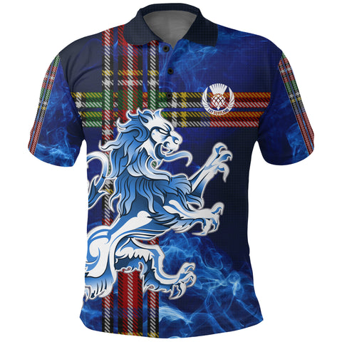 1stScotland Polo Shirt Blue Light Scottish Lions Special | Highest Quaility Standart