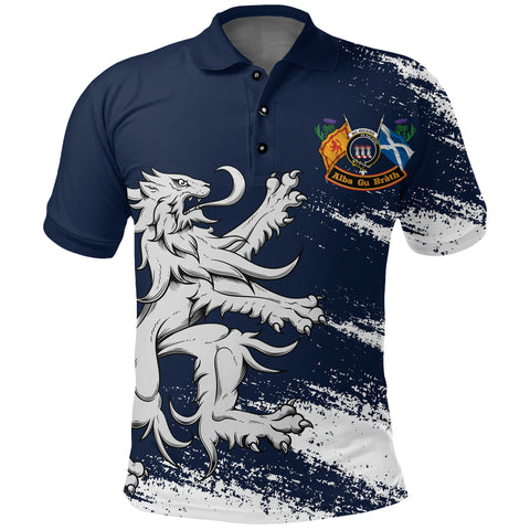 1stScotland Polo Shirt  - Lion McMicking Crest A24