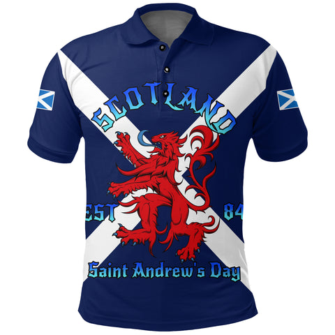 Image of 1stScotland Polo Shirt - Happy Saint Andrew Day A24