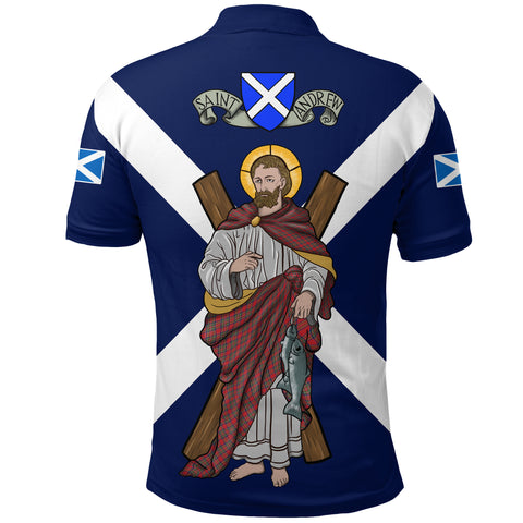 1stScotland Polo Shirt - Happy Saint Andrew Day A24