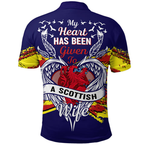 1stScotland Polo Shirt - My Heart Has Been Given To A Scottish Wife | 1stScotland