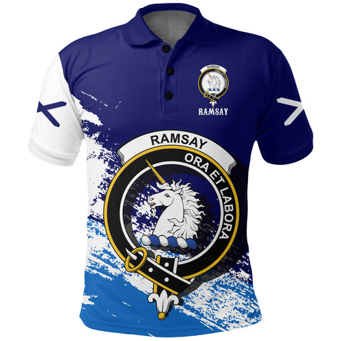 Image of Ramsay Scotland Polo Shirt - Scottish Crest | Women & Men | Clothing | Apparel