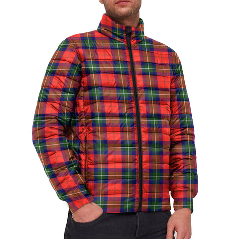 Tartan Padded Jacket -  Ruthven Modern Scottish Stand Collar Padded Jacket A7