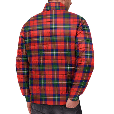 Image of Tartan Padded Jacket -  Ruthven Modern Scottish Stand Collar Padded Jacket A7