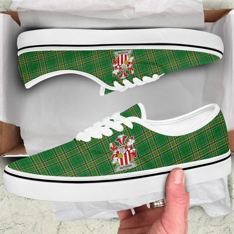 Ruthven Ireland Like Vans Lace Shoes - Irish National Tartan A31