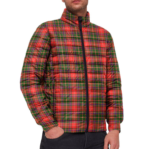 Tartan Padded Jacket -  Somerville Modern Scottish Stand Collar Padded Jacket A7