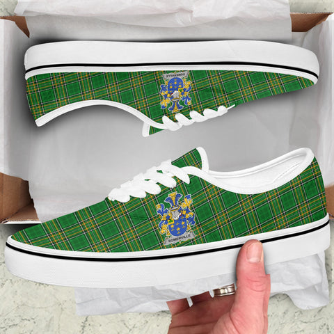 Somerville Ireland Like Vans Lace Shoes - Irish National Tartan A31