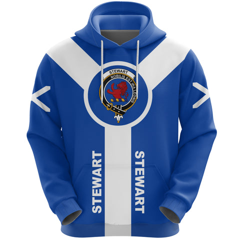 Stewart (Stuart) of Bute Crest Hoodie Unisex Scottish Flag A7