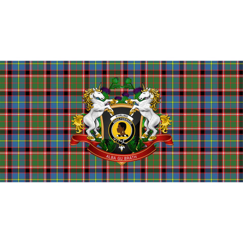 Tartan Tablecloth, Stirling & Bannockburn District Unicorn Thistle Scottish Tablecloth A30