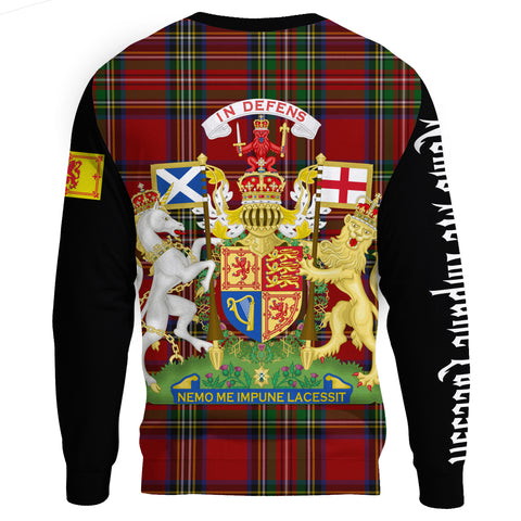 Scotland Sweatshirt - The Royal Coat Of Arms in Scotland | 1stScotland