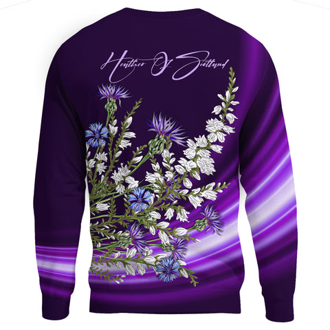 1stScotland Sweatshirt - Heather And Thistle Purple A24