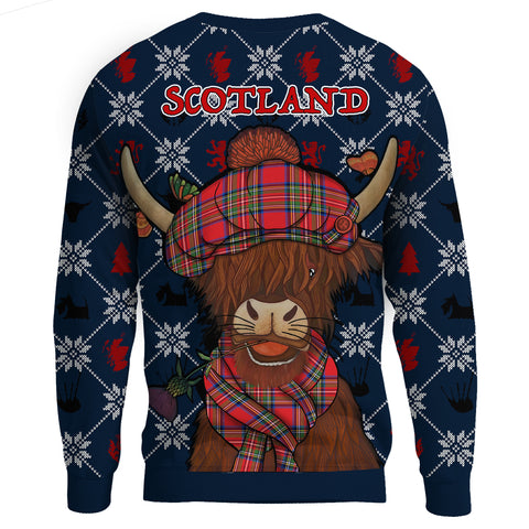 Image of 1stScotland Sweatshirt - Christmas Highland Cow A24