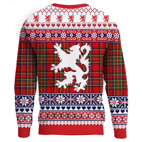 1stScotland Sweatshirt - Flag And Coat Of Arms Christmas In Scotland | 1stScotland