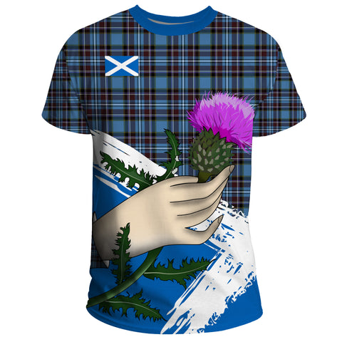 Image of Scotland T-shirt Thistle Tartan A14