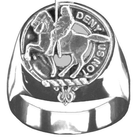 Image of Thompson Tartan Inscribed Rings - Tartan Ring Sterling Silver