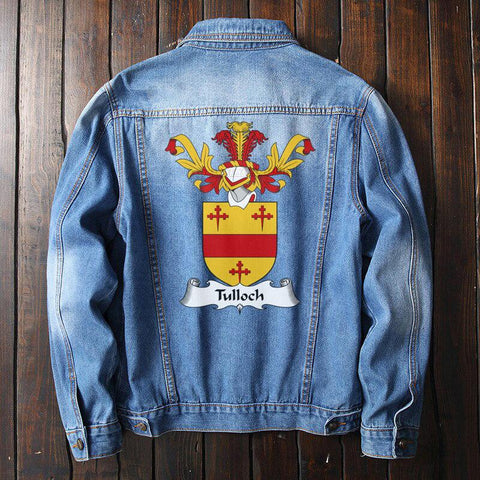 Tulloch Family Crest Denim Jacket | Over 1200 Crests | Fast International Shipping