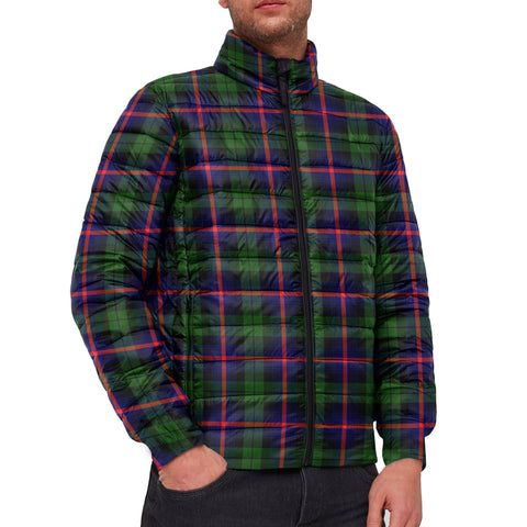 Tartan Padded Jacket -  Urquhart Modern Scottish Stand Collar Padded Jacket A7
