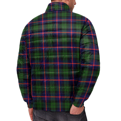 Image of Tartan Padded Jacket -  Urquhart Modern Scottish Stand Collar Padded Jacket A7