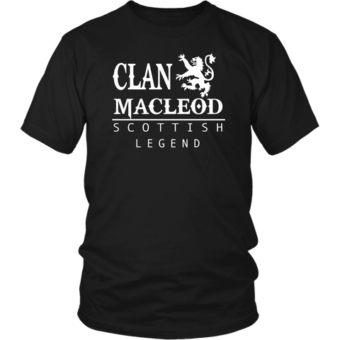 Clan MacLeod Scottish Legend T-Shirts And Hoodies | Exclusive Over 300 Clans | Love Scotland