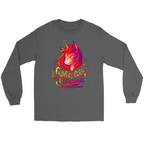 Fight Like a Unicorn - Long Sleeve T-shirt | HOT Sale
