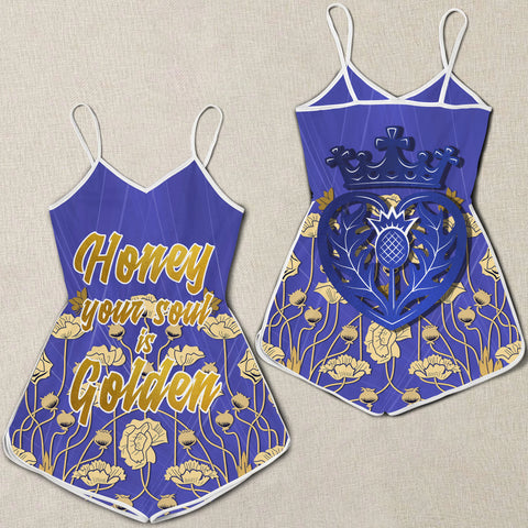 "1stScotland Women Rompers - ""Honey Your Soul Is Golden"" & Luckenbooth A25"