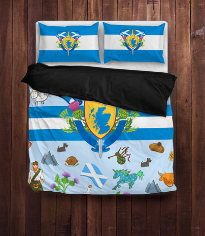 Scottish All Symbol (Black) - Scotland Bedding Set | Special Custom Design