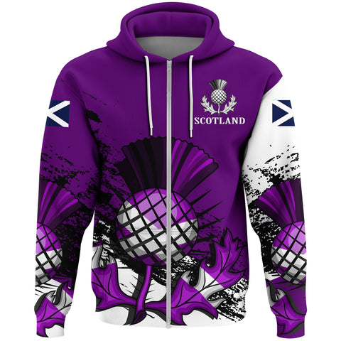 Scotland Zipper Hoodie Violet Version A7