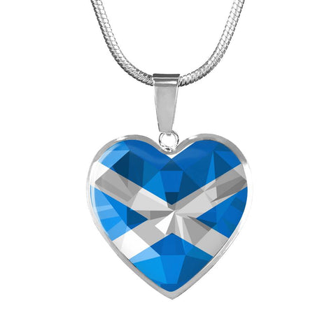 Scotland Crystal Flag - Heart Shaped Necklace | HOT SALE