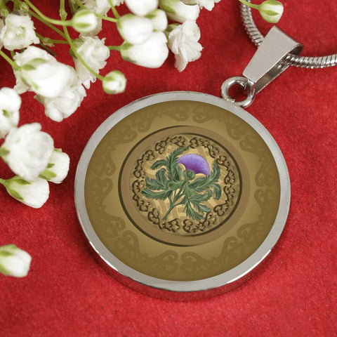 Luxurious Thistle Scottish - Circle Shaped Necklace | Special Custom Design