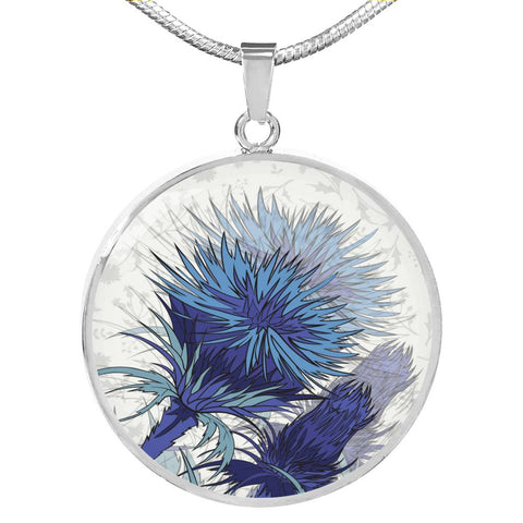 Blue Thistle - Circle Shaped Necklace | Special Custom Design