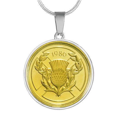 Image of Scotland 2 Pounds Coin - Necklace | Special Custom Design