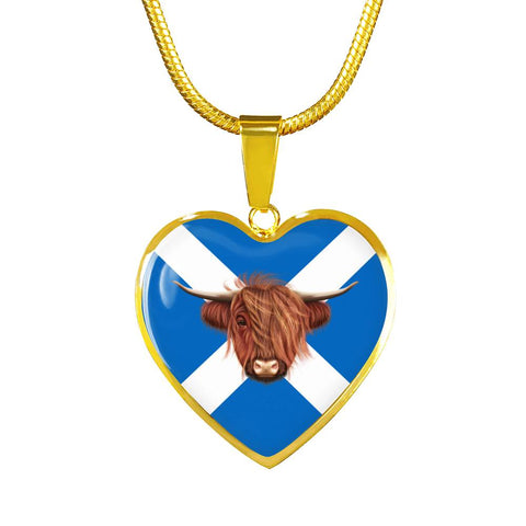 Highland Cow - Heart-Shaped Necklace | Hot sale