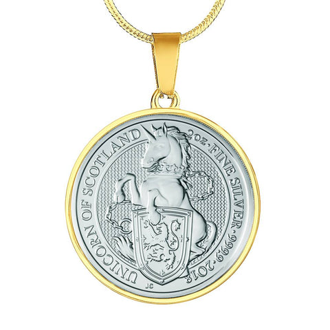 The Unicorn Of Scotland Coin Necklace | Special Custom Design