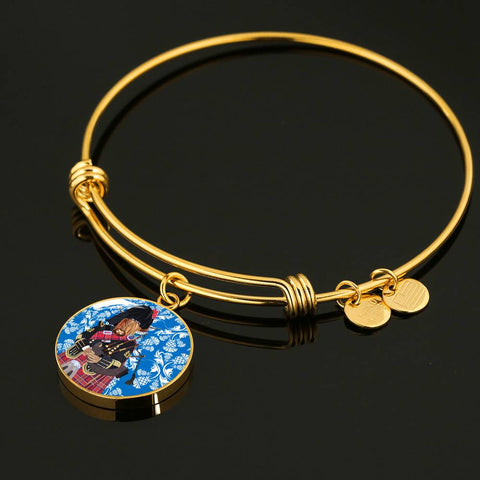 Heilan Coo & Bag Pipe - Circle Shaped Bangle | Special Custom Design