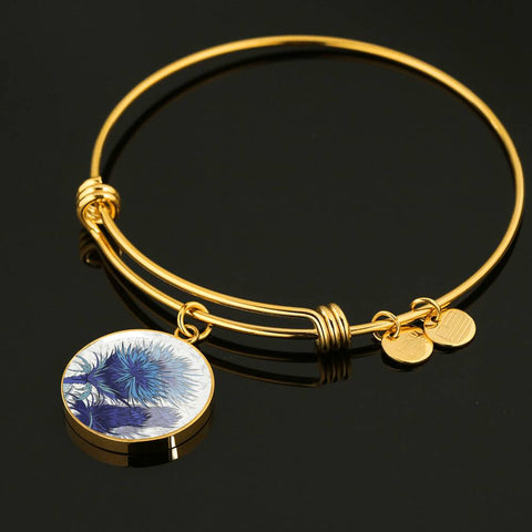 Blue Thistle - Circle Shaped Bangle | Special Custom Design
