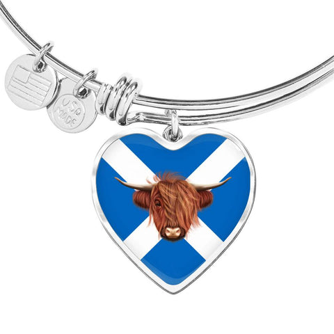 Image of Highland Cow - Heart Shaped Bangle | Special Custom Design