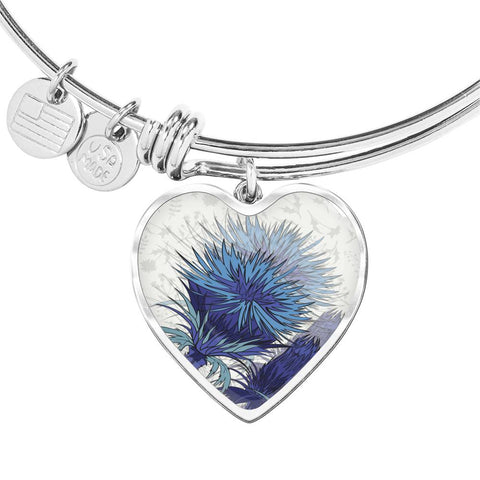 Blue Thistle - Heart Shaped Bangle | Special Custom Design