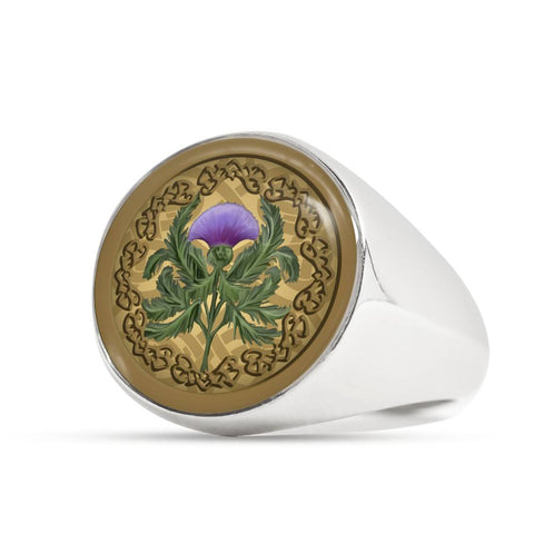 Luxurious Thistle Scottish - Gold/Silver Ring | Special Custom Design