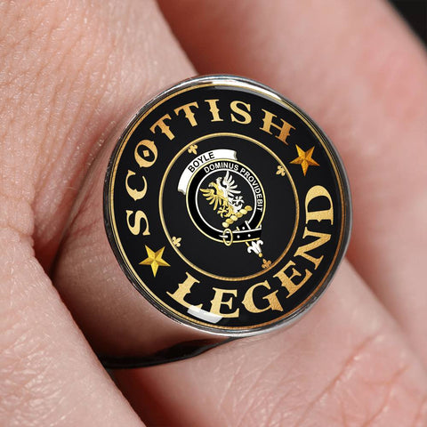Crest Ring - Boyle Scottish Legend  | Scotland Luxury Accessories