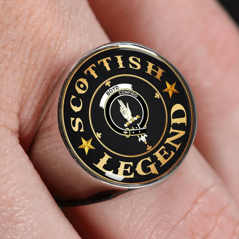Image of Crest Ring - Boyd Scottish Legend  | Scotland Luxury Accessories