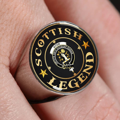 Crest Ring - Aiton Scottish Legend  | Scotland Luxury Accessories