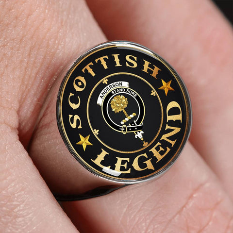 Crest Ring - Anderson Scottish Legend  | Scotland Luxury Accessories