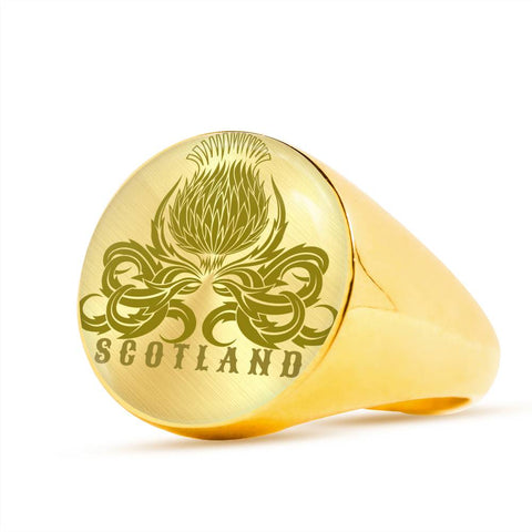 Thistle Scotland - Scotland Gold/Silver Ring | Special Custom Design