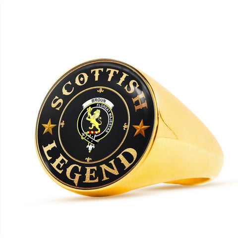 Crest Ring - Broun Scottish Legend A68