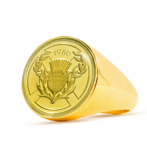 Image of Scotland 2 Pounds Coin Ring | Special Custom Design