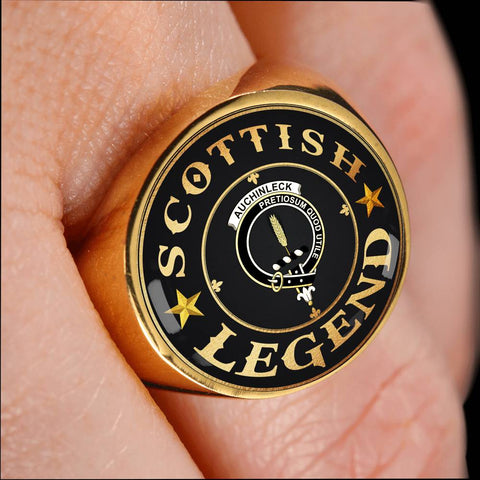 Crest Ring - Auchinleck or Affleck Scottish Legend