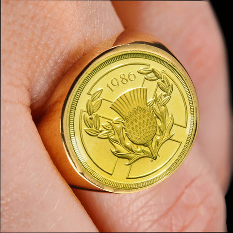 Scotland 2 Pounds Coin Ring | Men & Women | Jewelry
